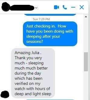 sleep issue testimonial